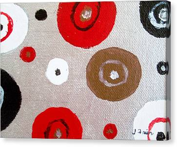 Silver Circle Abstract Canvas Print by Jamie Frier