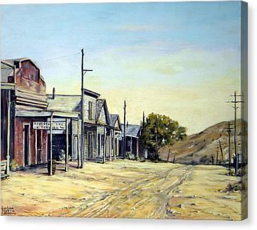 Silver City Nevada Canvas Print by Evelyne Boynton Grierson