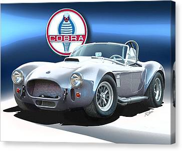 Silver Cobra Canvas Print by Rod Seel