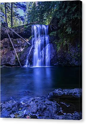 Silver Falls - Upper North Falls Canvas Print by Pelo Blanco Photo