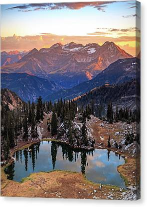 Silver Glance Lake Ig Crop Canvas Print by Johnny Adolphson