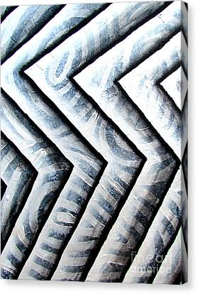 Silver Glass Waves Study 1  Canvas Print