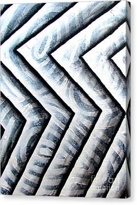 Silver Glass Waves Study 1  Canvas Print by Luke Galutia