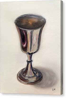 Silver Goblet Canvas Print