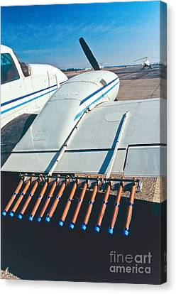 Pyrotechnic Canvas Print - Silver Iodide Flares For Cloud Seeding by Inga Spence