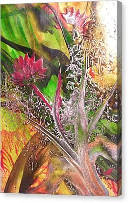 Silver Lace Canvas Print by John Vandebrooke