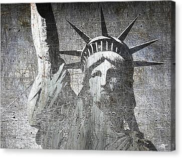 Silver Lady Liberty Canvas Print