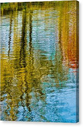 Silver Lake Autum Tree Reflections Canvas Print