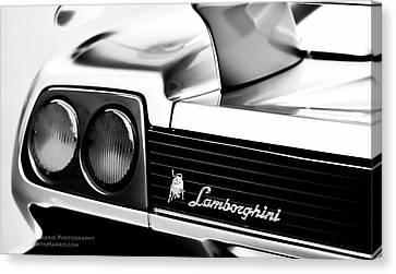 Silver Lamborghini Canvas Print by Jim Harris