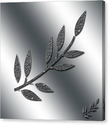 Silver Leaves Abstract Canvas Print by Aimee L Maher Photography and Art Visit ALMGallerydotcom