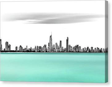 Silver Turquoise Canvas Print - Silver Linings by Az Jackson