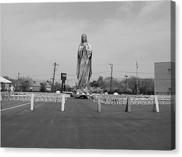 Canvas Print featuring the photograph Silver Mary by Robert Harshman