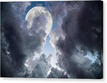 Silver Moon Canvas Print by J Darrell Hutto