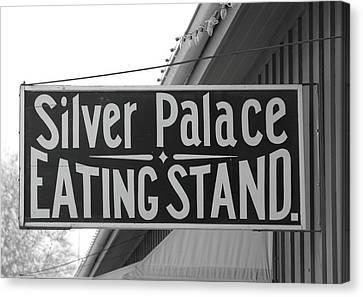 Old Sacramento Canvas Print - Silver Palace Eating Stand Sacramento Ca by Troy Montemayor