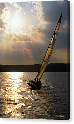 Silver Passage - Lake Geneva Wisconsin Canvas Print by Bruce Thompson