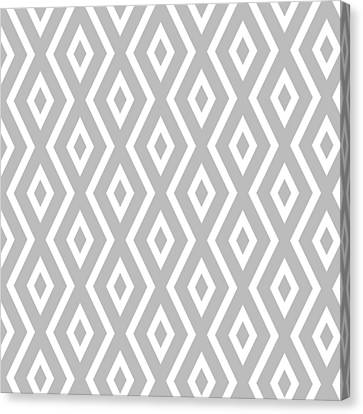 Pattern Canvas Print - Silver Pattern by Christina Rollo