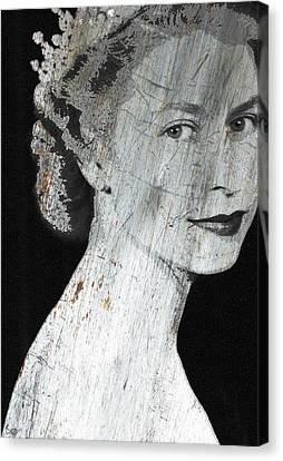 Silver Queen Elizabeth  Canvas Print