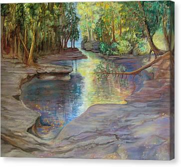 Silver River Hideaway Canvas Print