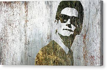 Silver Roy Orbison Canvas Print by Tony Rubino