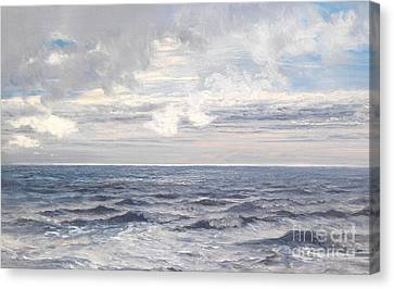 Silver Sea Canvas Print by Henry Moore