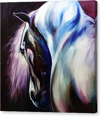 Silver Shadows Equine Canvas Print by Marcia Baldwin