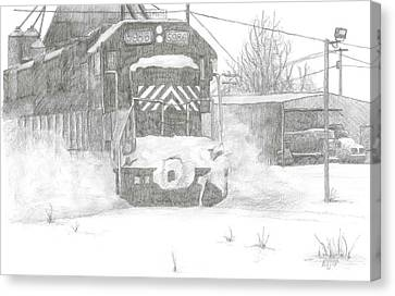 Silver Snow Canvas Print