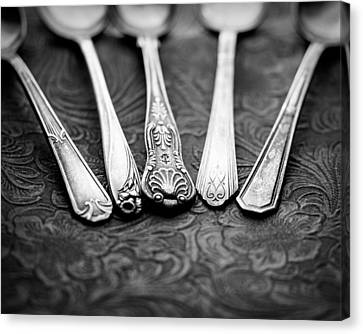 Silver Spoons Canvas Print by Jon Woodhams