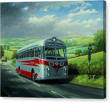 Silver Star Leyland Coach Canvas Print by Mike  Jeffries
