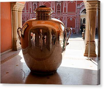 Silver Water Urn Jaipur Canvas Print
