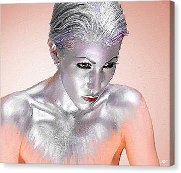 Monotone Canvas Print - Silver Woman 1 by Tony Rubino