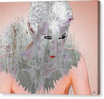 Silver Woman 10 Canvas Print