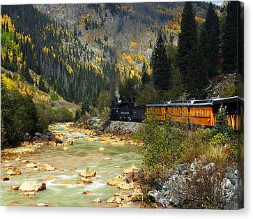 Canvas Print featuring the photograph Silverton Bound by Kurt Van Wagner