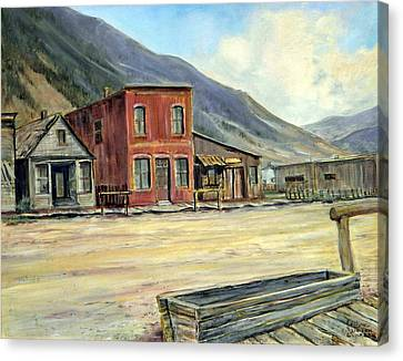 Silverton Colorado Canvas Print by Evelyne Boynton Grierson