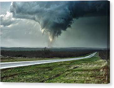 Canvas Print featuring the photograph Silverton Texas Tornado 2 by James Menzies
