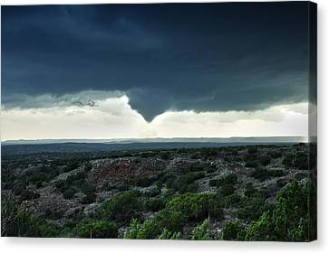 Canvas Print featuring the photograph Silverton Texas Tornado Forms by James Menzies