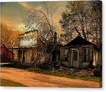 Silverville Ghost Town In Browns Canvas Print by Julie Dant
