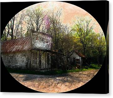 Silverville Ghost Town Canvas Print by Julie Dant