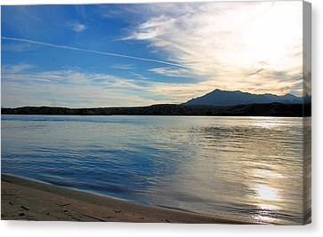 Silvery Reflection Canvas Print by Kristin Elmquist
