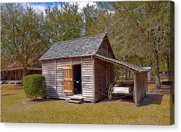 Simmons Cabin Built In 1873 In Orange County Florida Canvas Print by Allan  Hughes