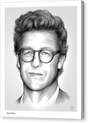 Simon Baker Canvas Print by Greg Joens