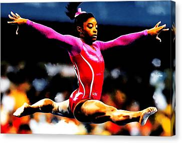 Simone Biles Canvas Print by Brian Reaves