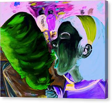 Canvas Print featuring the painting Simone by Kevin Callahan