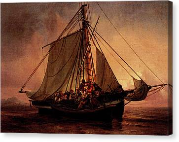 Simonsen Niels Arab Pirate Attack Canvas Print by Niels Simonsen
