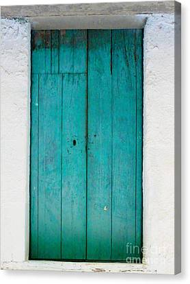 Simple Blue By Darian Day Canvas Print by Mexicolors Art Photography