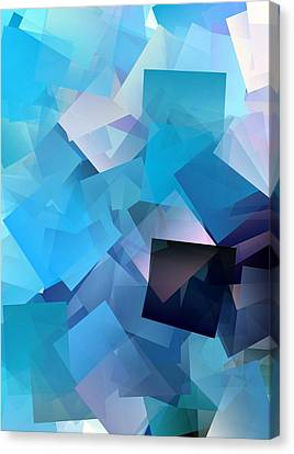 Simple Cubism Abstract 46 Canvas Print