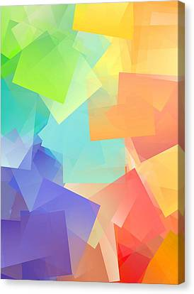 Simple Cubism Abstract 97 Canvas Print