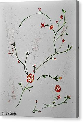 Simple Flowers #1 Canvas Print