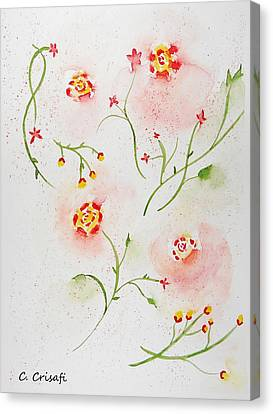 Simple Flowers #2 Canvas Print