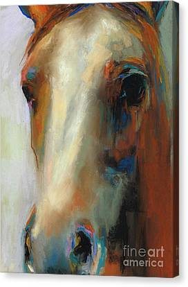 Simple Horse Canvas Print by Frances Marino