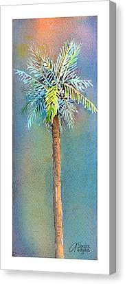 Simple Palm Tree Canvas Print